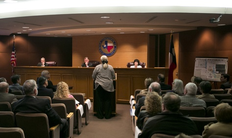 Lynda Stokes, the mayor of Reno, Texas, testified before the Railroad Commission of Texas on Jan. 21, 2014. She voiced her concern about an increased number of earthquakes around Eagle Mountain Lake.