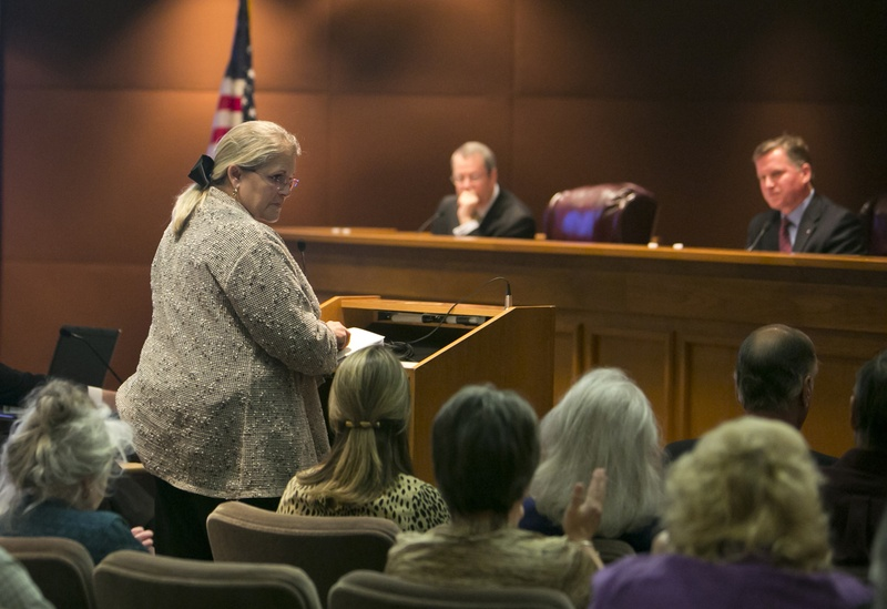 Lynda Stokes, mayor of Reno, Texas, testified before the Texas Railroad Commission in 2014, voicing her concern about an increased number of earthquakes around Eagle Mountain Lake. The Railroad Commission regulates the oil and gas industry.