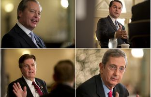 The four Republican candidates for lieutenant governor took on end-of-life issues, border security and, of course, one another in an hour-long debate in Dallas.