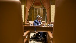 Francisco Cigarroa answers questions after resigning his post as UT System Chancellor on Feb. 10, 2014.