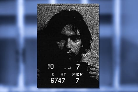 Mug shot from the Oct. 5, 1977, arrest of Stephen Ernest Stockman by the Madison Heights, Mich., police department. Stockman was initially charged with felony possession of diazepam, also known as Valium, records show.