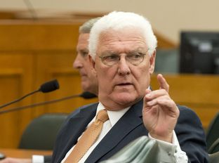 Dept. of Family and Protective Services Commissioner Judge John Specia at the Senate HHS hearing on Feb. 20, 2014.