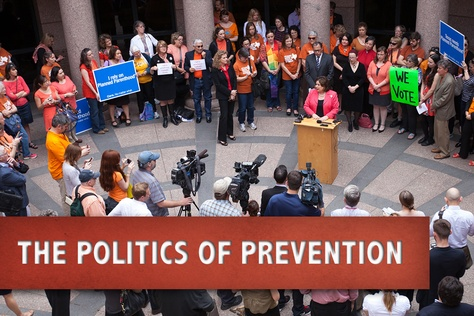 State Sen. Leticia Van de Putte, D-San Antonio, addresses abortion rights advocates at the Texas capitol on Feb. 20, 2014.