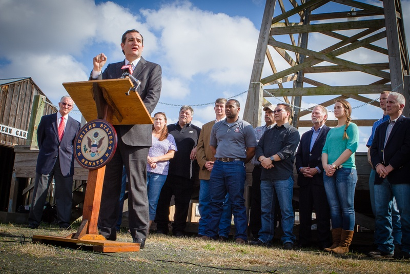 During a stop at the Spindletop Museum in Beaumont, U.S. Sen. Ted Cruz pitched his energy policy bill, which he calls the American Energy Renaissance Act.