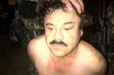"A picture of Sinaloa drug cartel leader Joaquín ""El Chapo"" Guzmán Loera is released by Mexican law enforcement officials in February 2014 after Guzmán was captured."