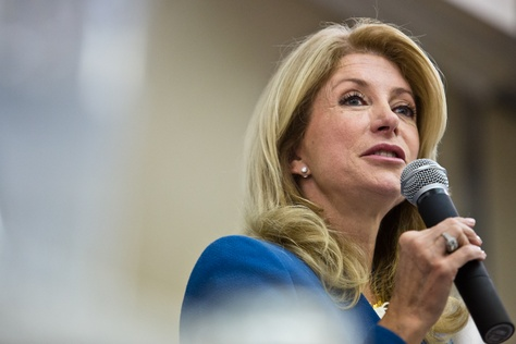Senator Wendy Davis addresses the Texas Democratic Women's Convention in Austin, TX.