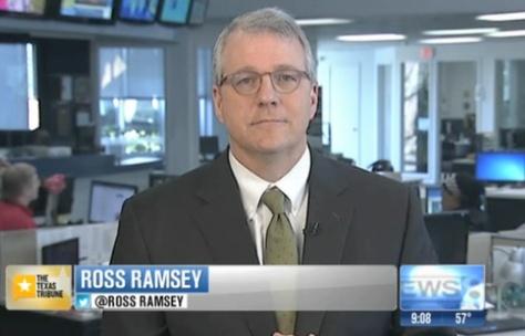 "Texas Tribune Executive Editor Ross Ramsey on WFAA-TV's ""Inside Texas Politics"" on Feb. 23, 2014."