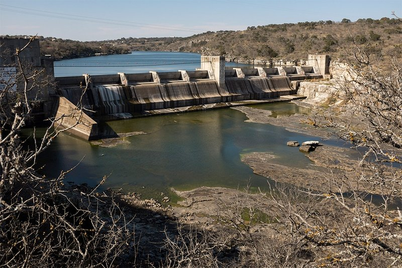 LCRA's Max Starcke Dam, just east of Marble Falls, Texas. It is one of six dams the agency operates.