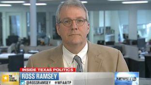 "Texas Tribune Executive Editor Ross Ramsey on WFAA-TV's ""Inside Texas Politics"" on March 9, 2014."