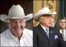 Former state Reps. Tommy Merritt and Sid Miller, Republican candidates in runoff for agriculture commissioner.