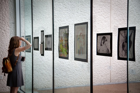 """""""Illuminating Spirits,"""" an art and poetry exhibition by incarcerated women in the Texas prison system, are displayed at the Emma S. Barrientos Mexican American Cultural Center, presented by The Texas Criminal Justice Coalition and the City of Austin."""