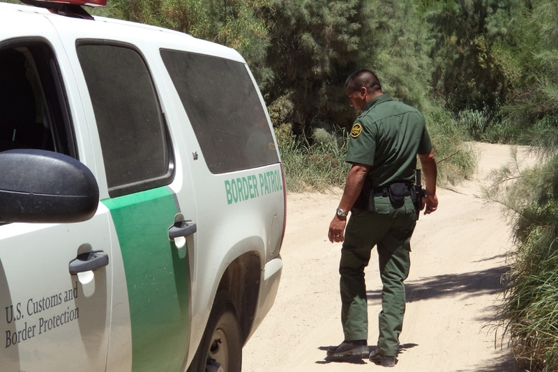U.S. Border Patrol agents patrolling in the Rio Grande Valley.