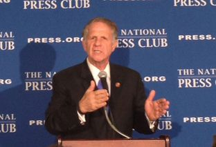 Rep. Ted Poe, R-Humble, speaking at the National Press Club on April 29, 2014. Poe has coauthored a bipartisan bill with Democrat Rep. Carolyn Maloney of New York to address human sex trafficking, a major problem in Houston and other Texas cities.