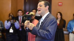 U.S. Sen Ted Cruz of Texas talks to the Capitol press about his upcoming to the Ukraine on May 16, 2014.