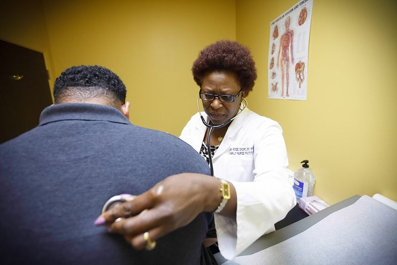 Dr. Rose Okoro, a nurse practitioner, who owns Daystar Family Clinic in Katy, is shown on May 12. 2014. She says she has struggled to treat a greater number of Medicaid patients because of state regulations.