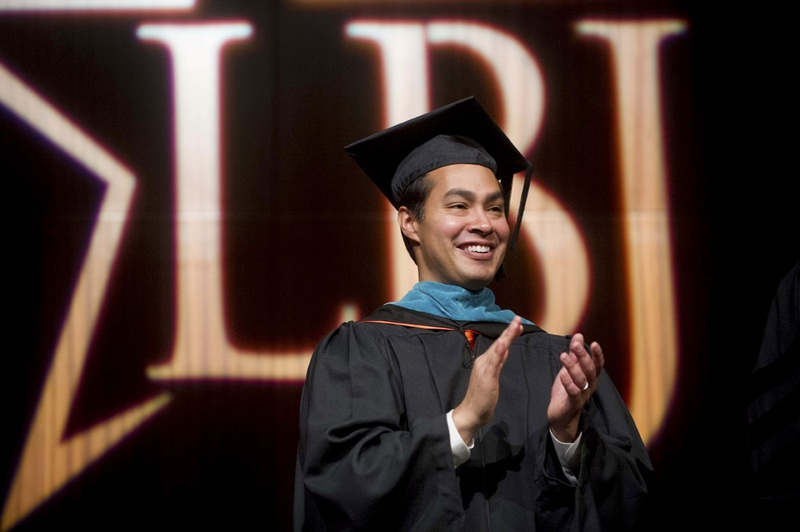 San Antonio Mayor Julian Castro at the LBJ School of Public Affairs graduation on May 17, 2014. Castro is rumored to be President Obama's Cabinet pick for Secretary of Housing and Urban Development (HUD).