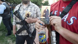 Tarrant County open carry gun owners rally at the Republican Convention on June 5, 2014.