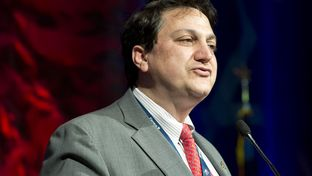Texas Republican Party chairman Steve Munisteri speaks to the Grassroots Club in Fort Worth on June 5, 2014.
