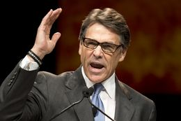 Gov. Rick Perry speaking to the Texas Republican Convention on June 5, 2014.