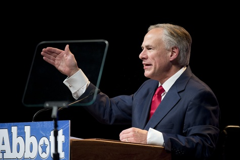 Republican candidate Greg Abbott gives his vision for a new Texas if he's elected governor in a speech to Republican delegates on June 6, 2014.
