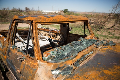 The fire destroyed more than 100 automobiles. The Texas Department of Transportation awarded $15,000 to Panhandle Community Services to help with car-pooling.