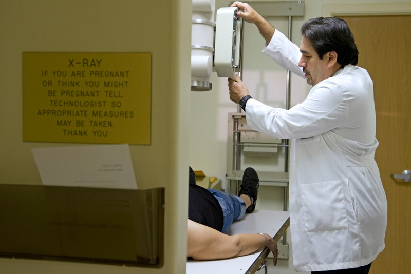 Dr. Javier Saenz, who has a medical practice in the Rio Grande Valley town of La Joya, prepared his clinic's X-ray machine in 2012.