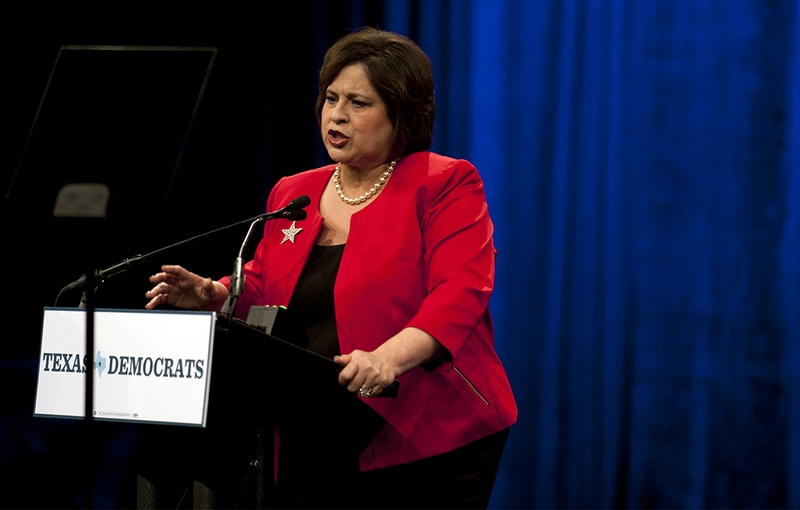 Democratic nominee for lieutenant governor Leticia Van de Putte speaks at the Democratic state convention in Dallas, Texas on June 27, 2014.