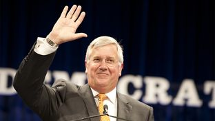 Mike Collier, Democratic nominee for Texas comptroller, at the state Democratic convention in Dallas on June 27, 2014.