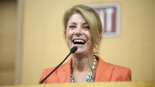 Texas gubernatorial hopeful Wendy Davis addresses delegates at the Black Caucus at the 2014 Texas Democratic Convention held at the Dallas Convention Center in Dallas, Texas, June 27, 2014.