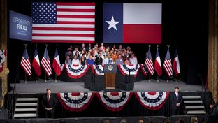 President Barack Obama speaks on the economy at the Paramount Theater in Austin July 10, 2014, following a two-day swing thorough Texas.