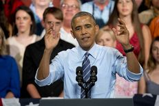 President Obama talked about the U.S. economy in a speech on July 10, 2014, at the Paramount Theatre in Austin.
