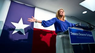 Gubernatorial candidate Wendy Davis addresses supporters before they canvass for her in East Austin.