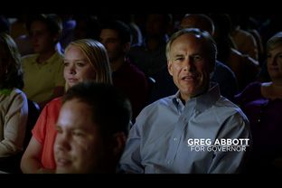 Republican gubernatorial candidate Greg Abbott isn't on TV right now, but he is spending campaign funds to screen his latest 30-second spot at theaters before screenings of some summer blockbusters.