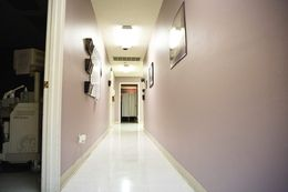 A hallway at the Whole Woman's Health clinic in Austin, which shut down in 2014.