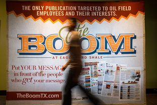 The Boom at Rudkin Productions. The newspaper caters to bored oil workers in South Texas.