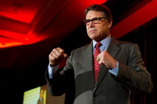 Rick Perry speaks at the RedState Gathering in Fort Worth on Aug. 8, 2014.