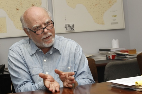 Craig McDonald, the director of Texans for Public Justice, is shown at his group's Austin office on Aug. 18, 2014.