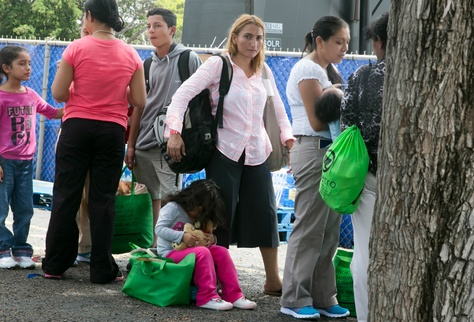 In 2014, a Catholic Charities shelter at Sacred Heart Church in McAllen helped hundreds of displaced immigrants who had crossed the Texas-Mexico border.