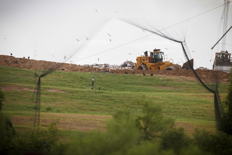 The McCarty Road Landfill in northeast Houston. As Houston considers a new plan for boosting its low recycling rate, some critics worry that it will continue the legacy of putting waste facilities in predominantly minority neighborhoods.