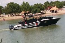Texas Department of Public Safety officers patrol Anzalduas Park as part of Operation Strong Safety. Texas National Guard soldiers deployed to the area on Monday will help DPS in its mission, officials said.