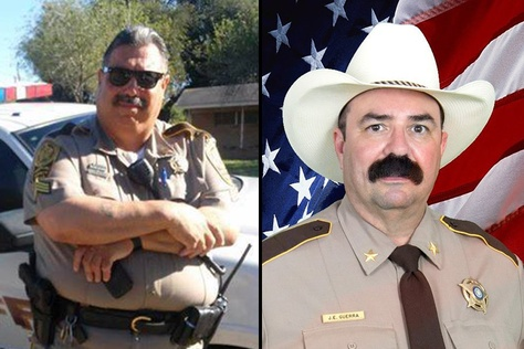 Al Perez, left, will face interim sheriff Eddie Guerra, right, this November.