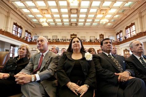 Sen. Leticia Van de Putte, D-San Antonio (center) on the House floor on Feb. 8, 2011.