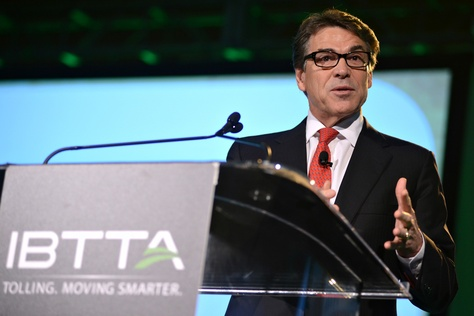 Gov. Rick Perry spoke at the International Bridge, Tunnel and Turnpike Association's conference on Sept. 16, 2014, in Austin.