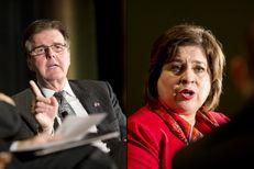 Dan Patrick and Leticia Van de Putte, the Republican and Democratic candidates for lieutenant governor, spoke at the Texas Tribune Festival on Saturday, Sept. 20, 2014.
