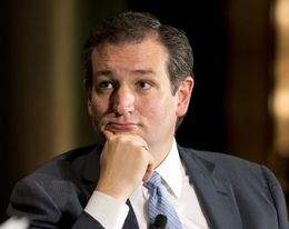 Sen. Ted Cruz listens to a question in the final moments of his keynote interview at TribFest on Sept. 20, 2014.