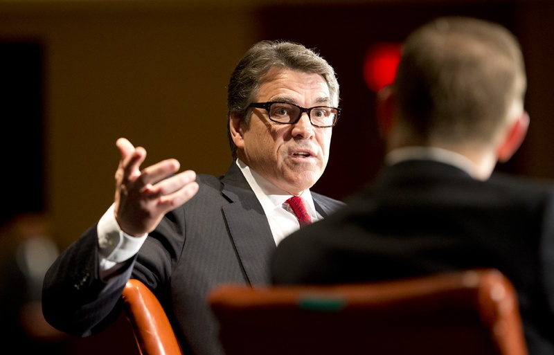 Gov. Rick Perry at the final keynote of TribFest on Sunday, Sept. 21, 2014.