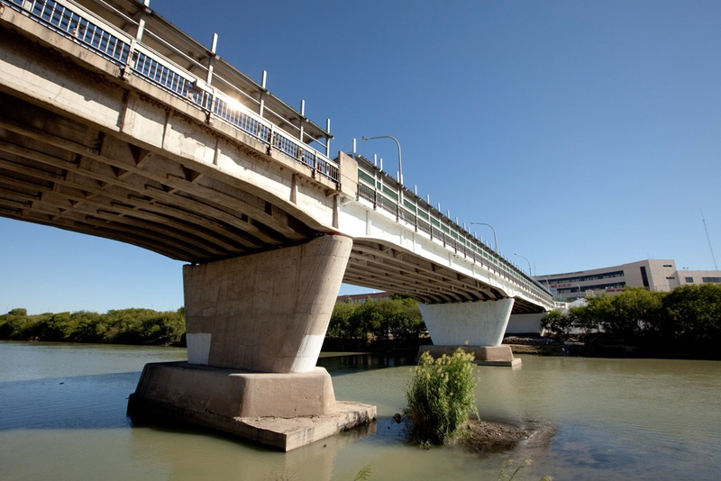 International Bridge No. 1 over the Rio Grande looking at Nuevo Laredo, Mexico, from the banks of a city park in Laredo. The Rio Grande could be affected if water from Val Verde County is diverted, one scientist said.