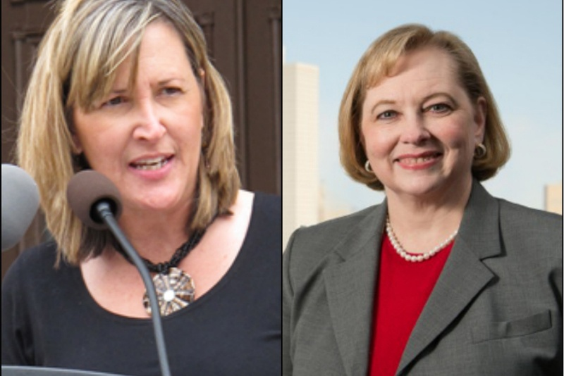 Republican Konni Burton (l) defeated Democrat Libby Willis for the SD-10 Senate seat vacated by Wendy Davis.