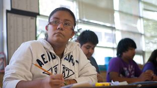 Students in Yvonne McDaniel's English for Speakers of Other Languages, or ESOL, class participated in English-language exercises during summer school at McCallum High School in Austin on July 31, 2013.