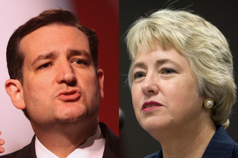 U.S. Sen. Ted Cruz and Houston Mayor Annise Parker